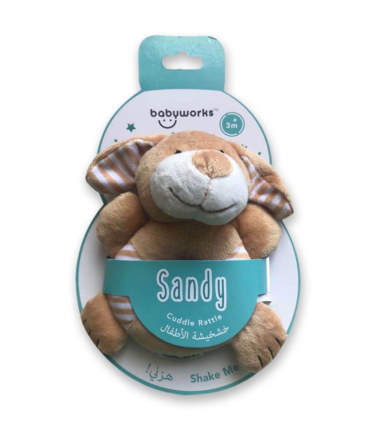 BABY WORKS Bibibaby Cuddle Rattle Sandy Dog