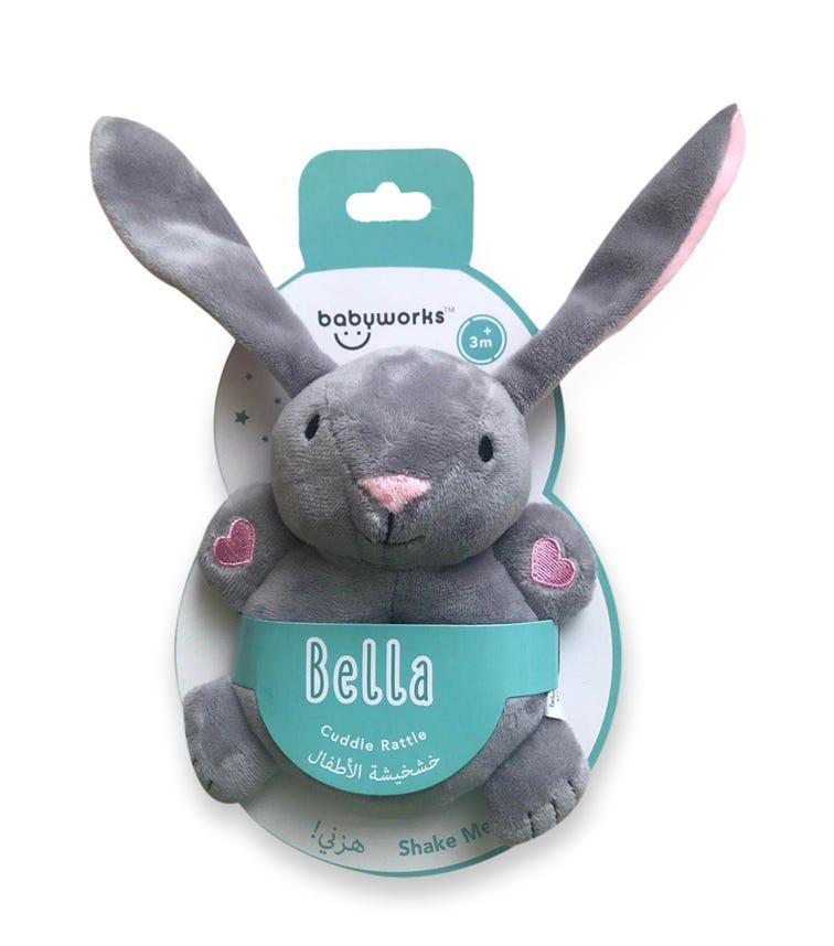 BABY WORKS Bibibaby Cuddle Rattle Bella Bunny