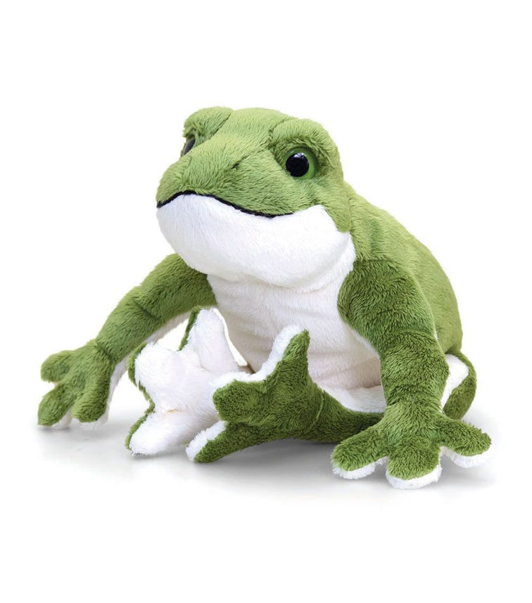 KEEL TOYS UK 30 cm Frog Soft Toy With Sound