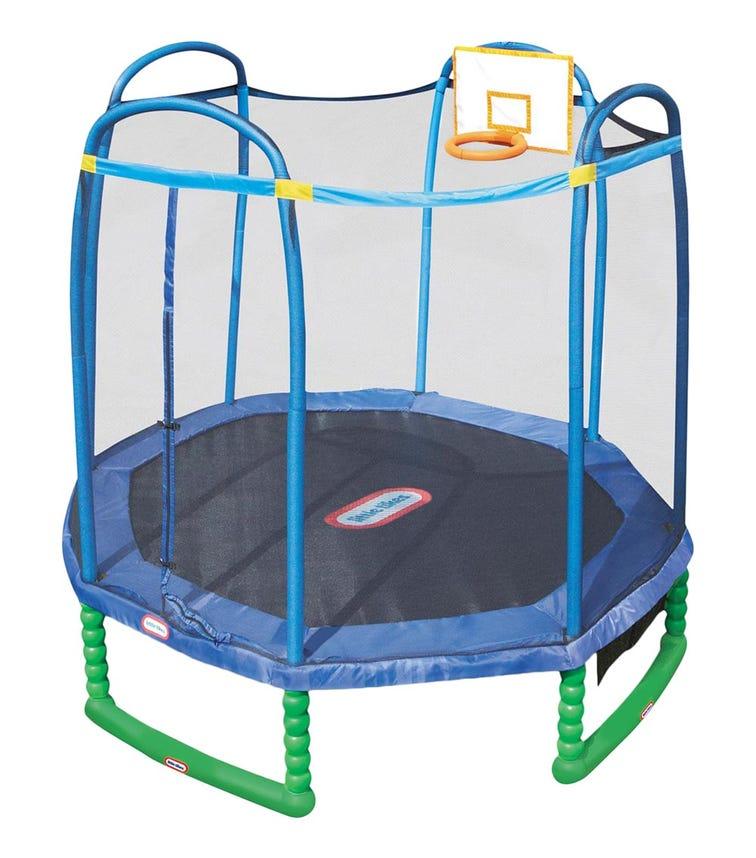 LITTLE TIKES 3 Meter Sports Trampoline With Basket Ball Hoop
