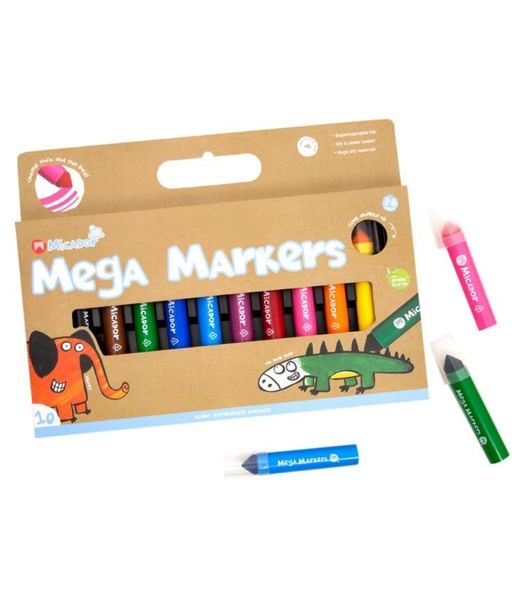 MICADOR Mega Markers (Pack Of 10 Colors)