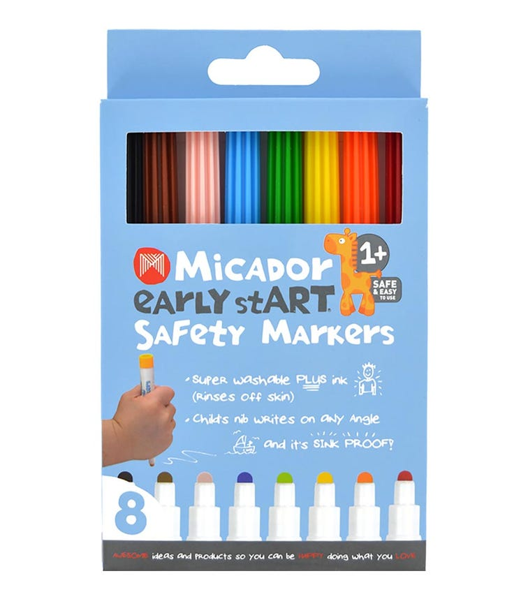 MICADOR Safety Markers (Pack Of 8) Early Start Series