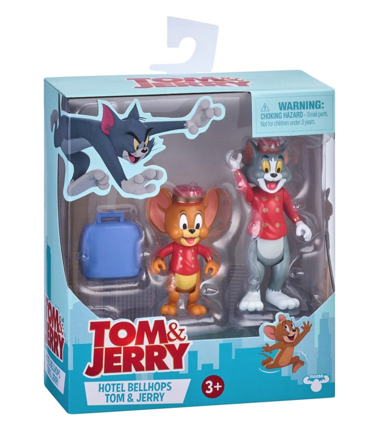 TOM & JERRY S1 3 Inch Figurine 2 Pack - Hotel