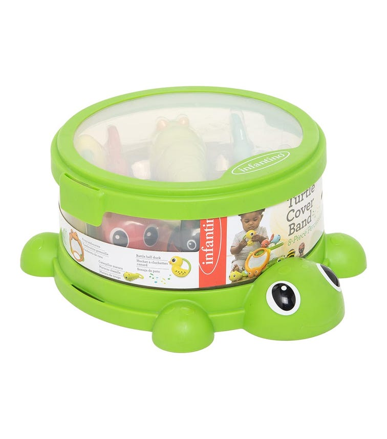 INFANTINO Turtle Cover Band - 8 Piece Percussion Set
