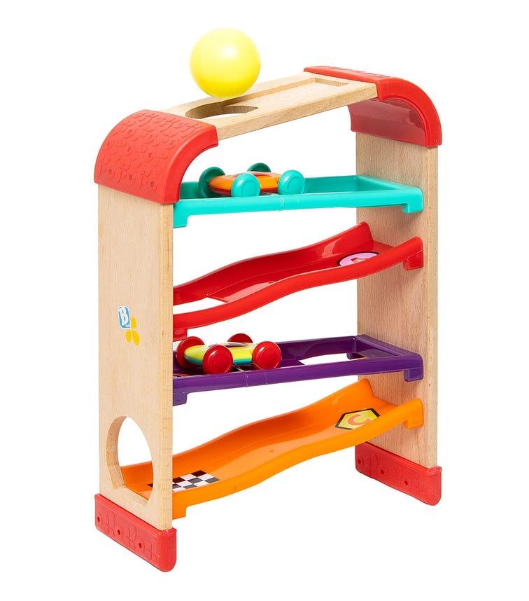 INFANTINO B-Kids Natural Wood Rack - Race & Drop Roller