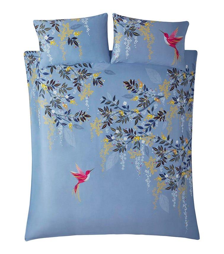 SARA MILLER Hummingbird Print Double Quilt Set (200x200cm)