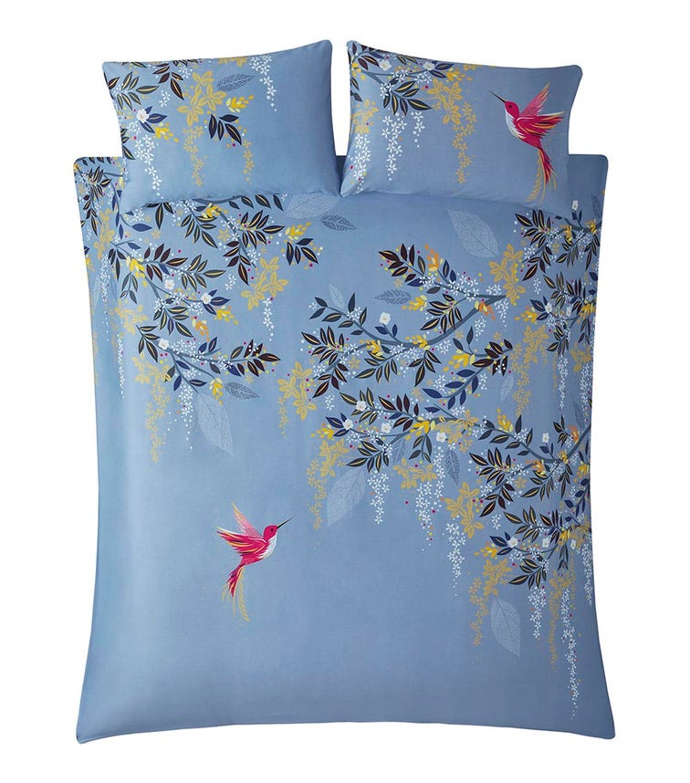 SARA MILLER Hummingbird Print Super King Quilt Set (260x220cm)