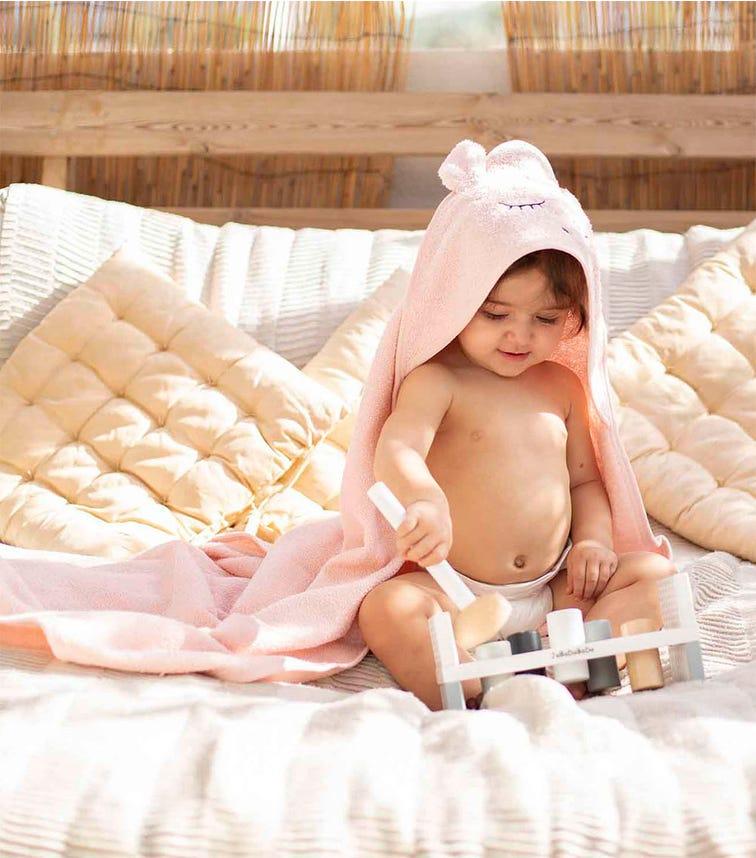 ELLI JUNIOR Hooded Towel Pink