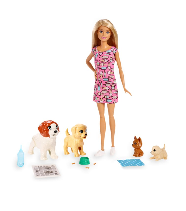 BARBIE Doggy Daycare Doll Pets