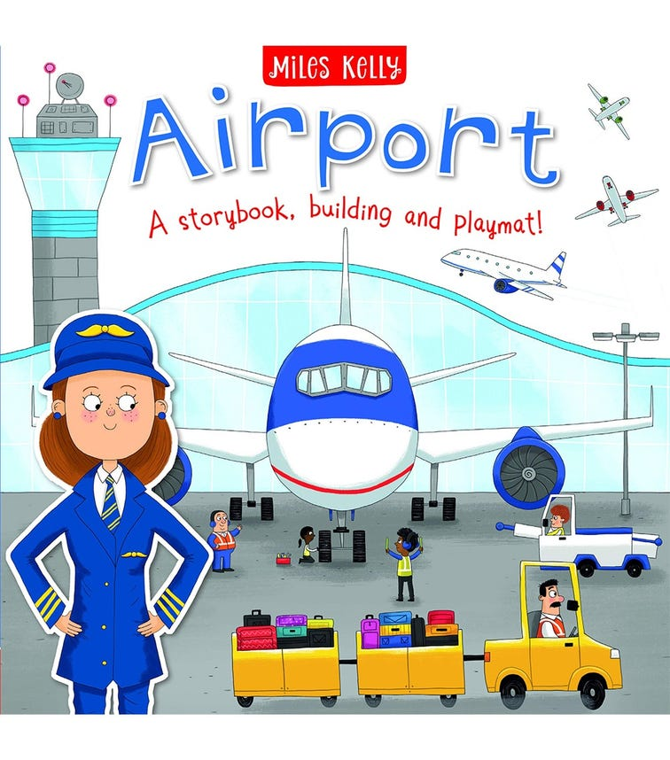 MILES KELLY Airport, A Story Book, Building And Playmat!