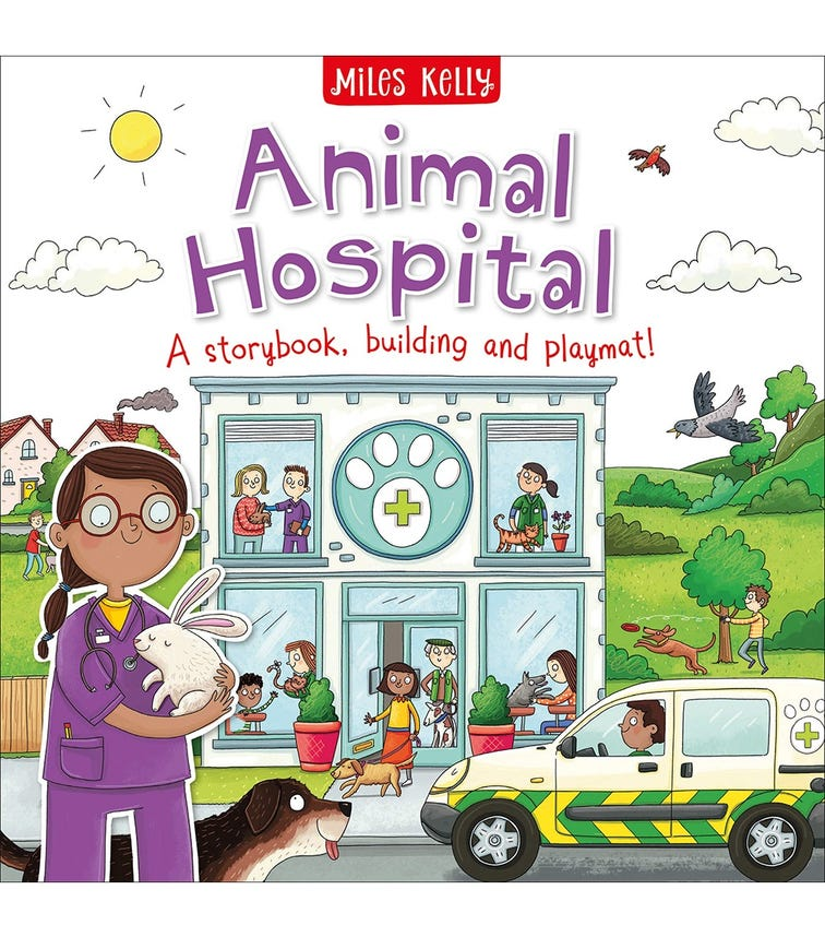 MILES KELLY Animal Hospital, A Storybook, Building And Playmat!