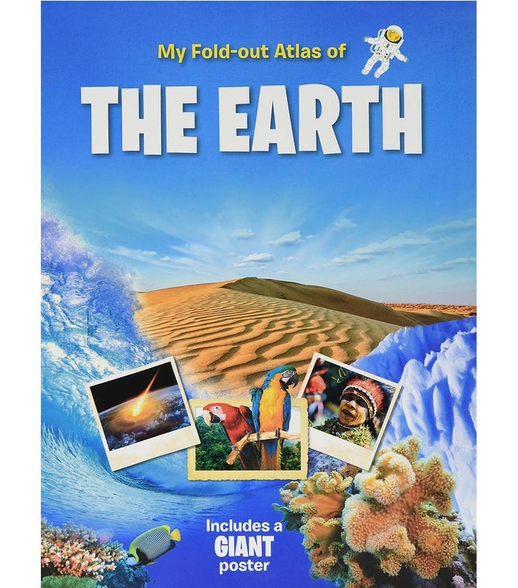 YOYO BOOKS My Fold-Out Atlas Of The Earth Includes A Giant Poster