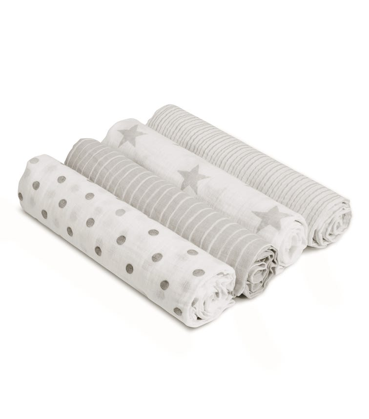 ADEN + ANAIS Essentials 4-Pack Classic Muslin Swaddles - Dusty