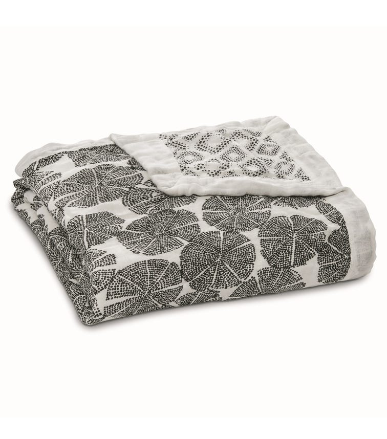 ADEN + ANAIS Silky Soft Dream Blanket In Motion - Wedges