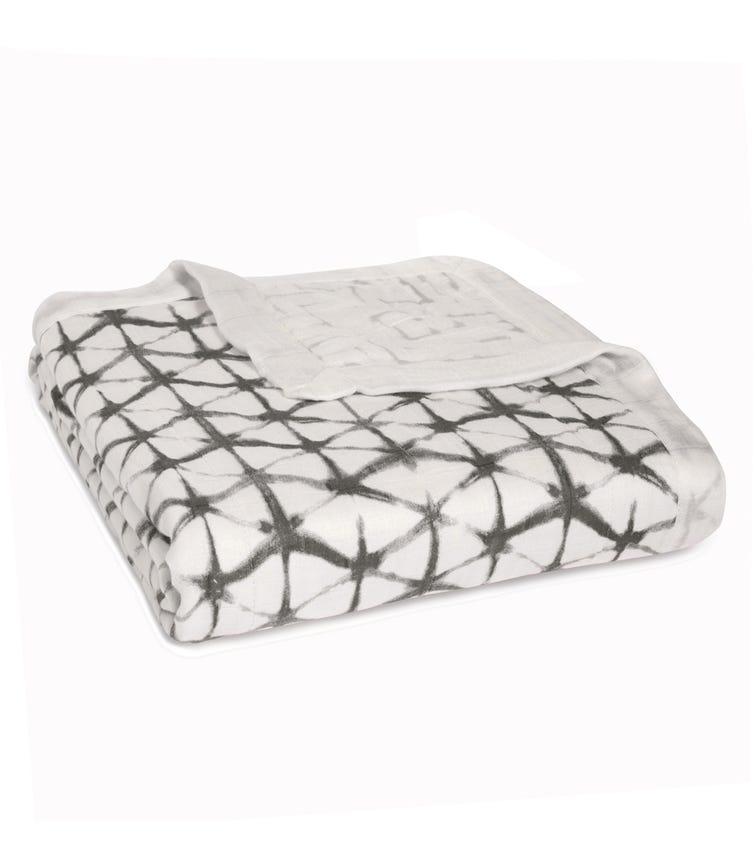 ADEN + ANAIS Silky Soft Dream Blanket - Pebble Shibori