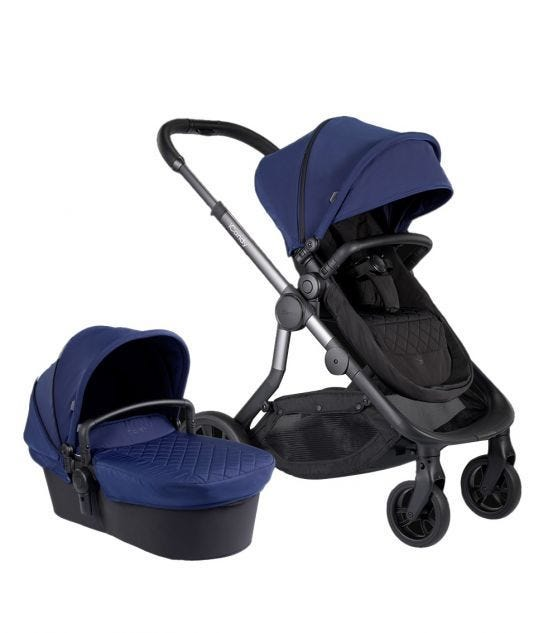 iCANDY Orange Combo Indigo - Seat & Carry Cot + Car Seat Adaptor