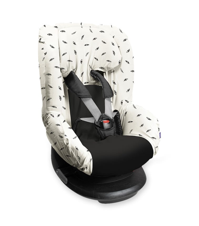 DOOKY Seat Cover - Group 1 - Black Feather