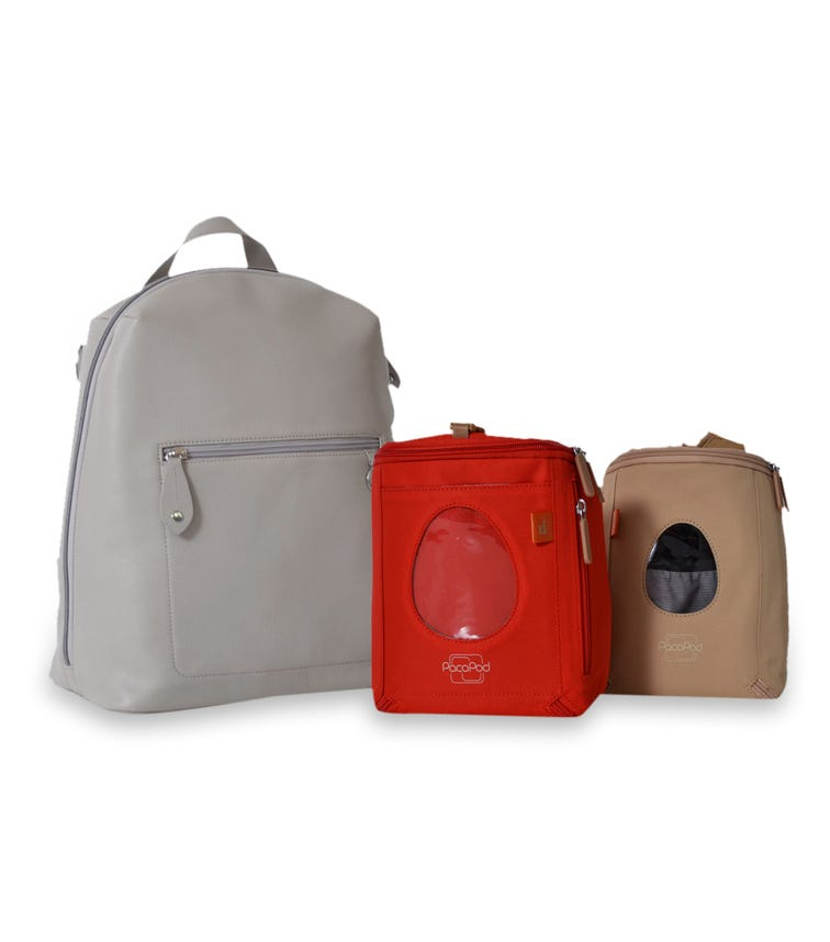 PACAPOD Hartland Leather Changing Bag - Elephant