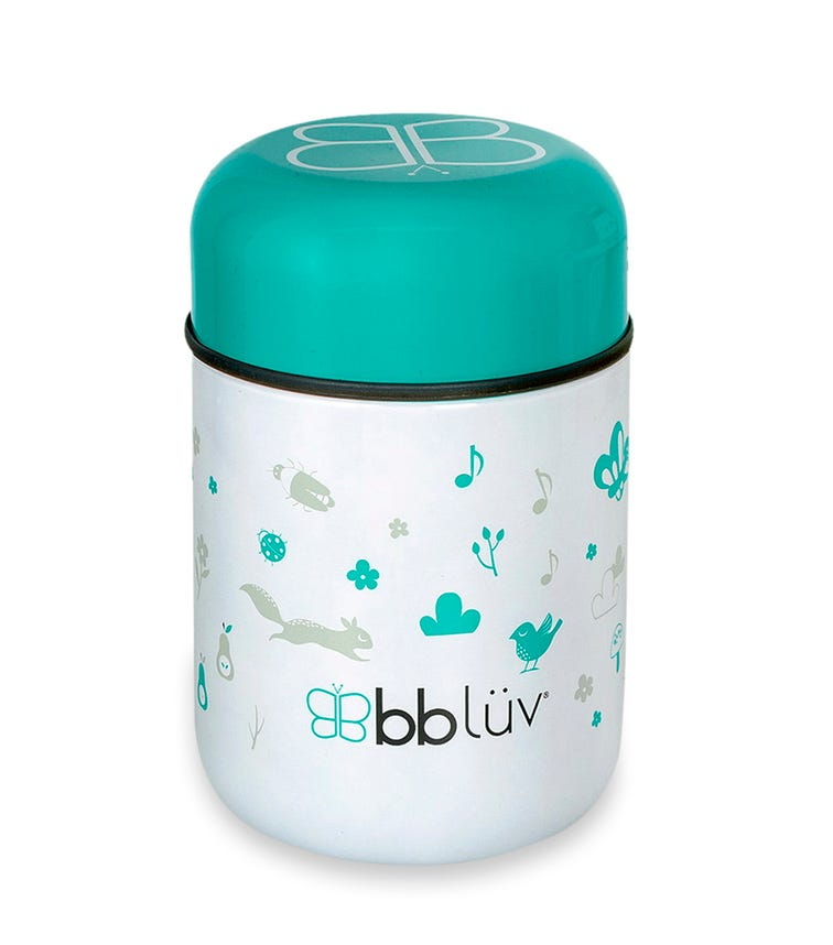 BBLUV Thermal Food Container With Spoon And Bowl (Aqua)