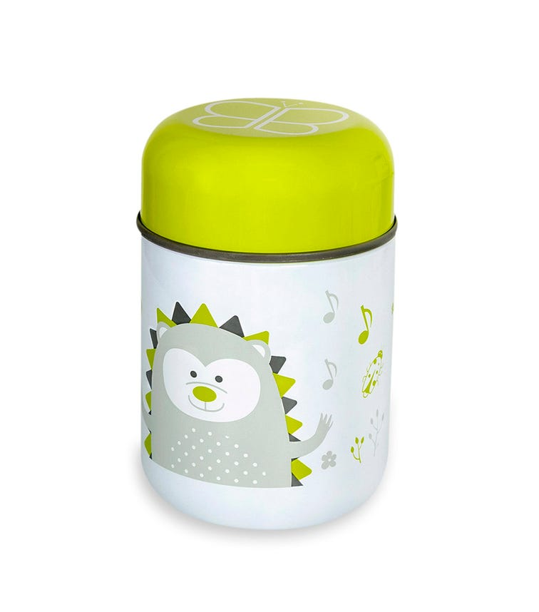BBLUV Thermal Food Container With Spoon And Bowl (Lime)