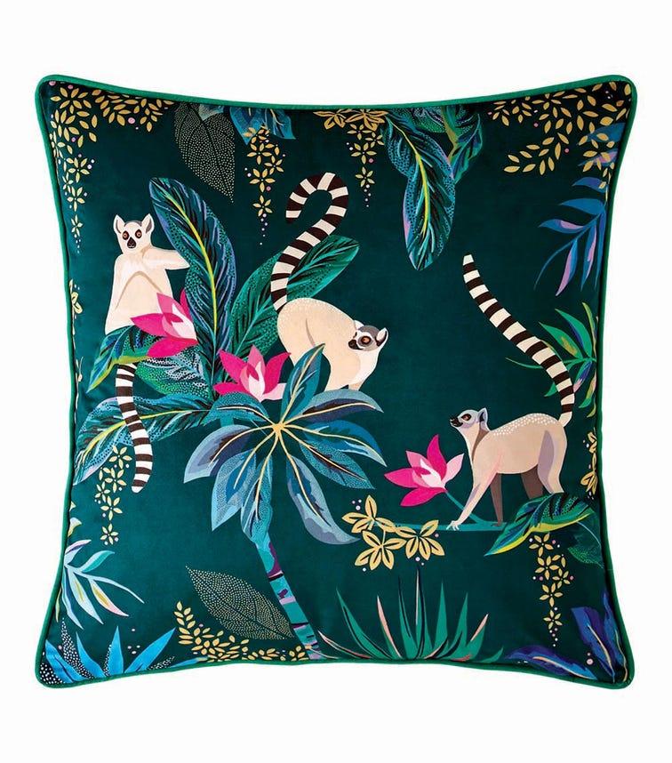 SARA MILLER Lemur Print Feather Filled Cushion (50x50cm)
