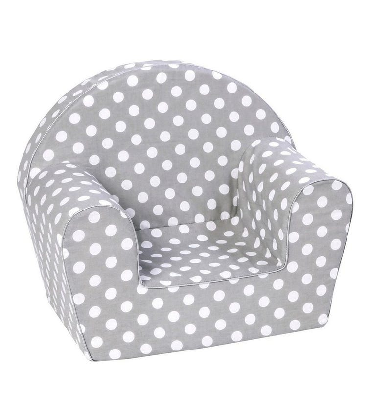 DELSIT Arm Chair - Grey Polka Dots