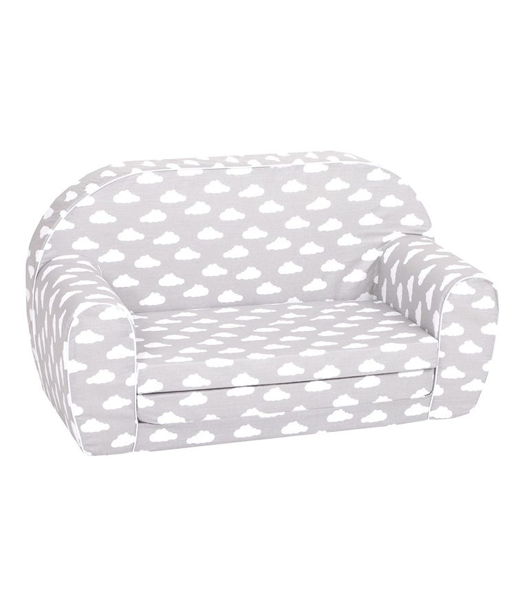 DELSIT Sofa Bed - Grey With White Clouds