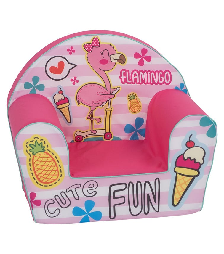 DELSIT Arm Chair - Flamingo Cute Fun