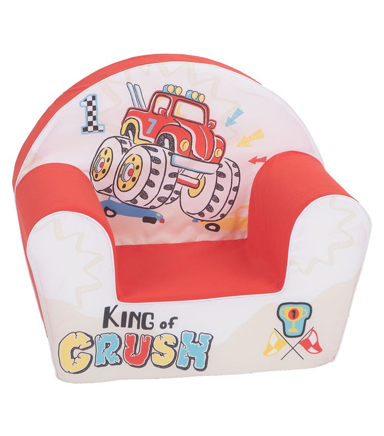 DELSIT Arm Chair - King Of The Crush Red