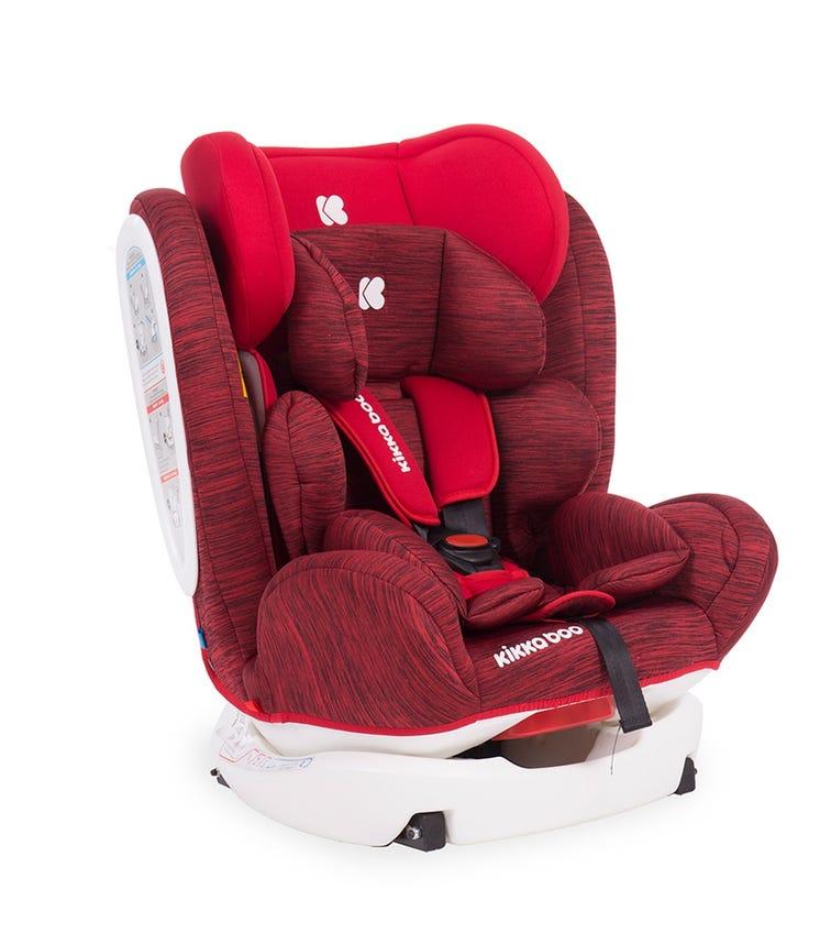 KIKKABOO Car Seat 0-1-2-3 (0-36  KG) 4 Fix Red