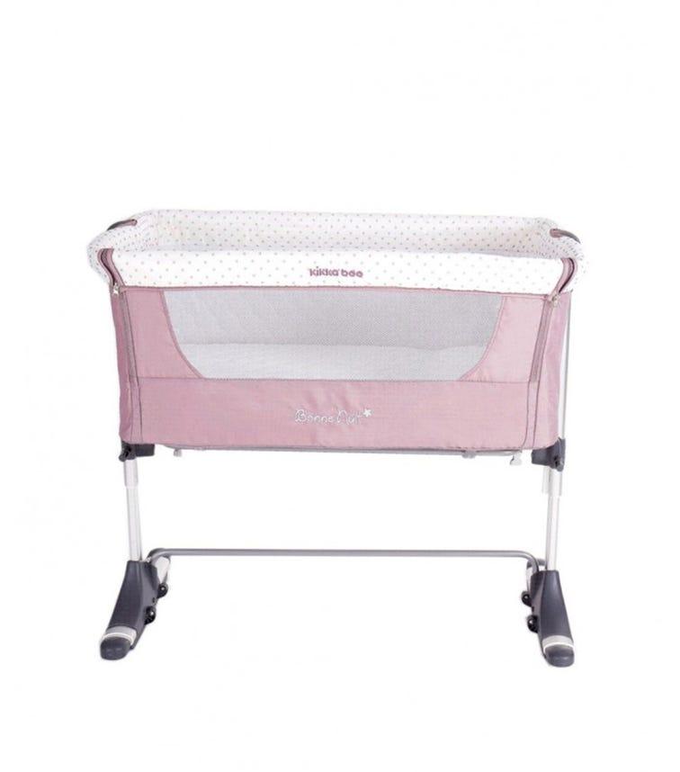 KIKKABOO Bedside Crib Bonne Nuit Pink