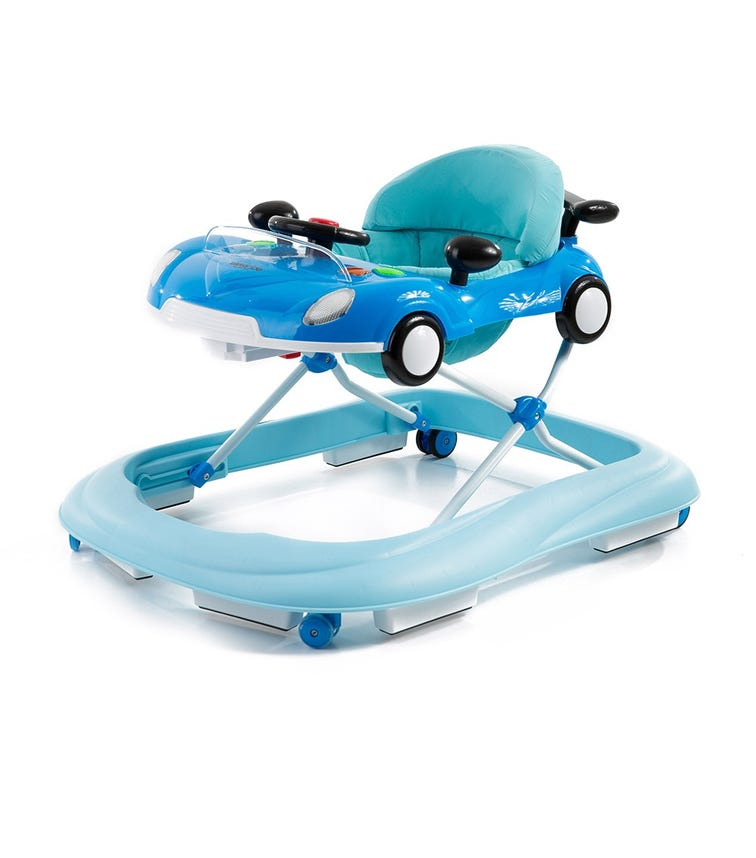 KIKKABOO Walker Car Blue