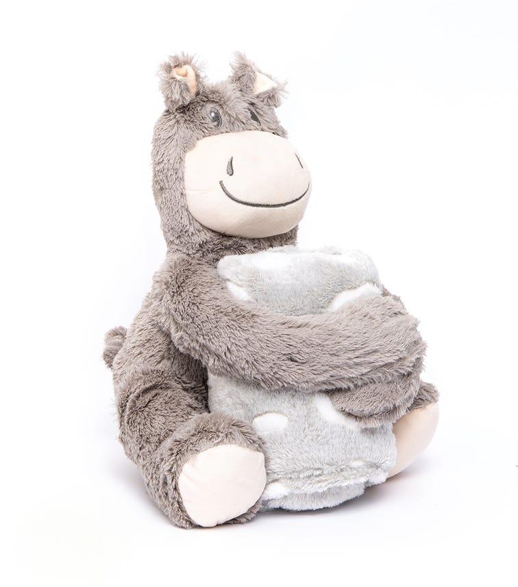 KIKKABOO Set Toy + Blanket Hippo