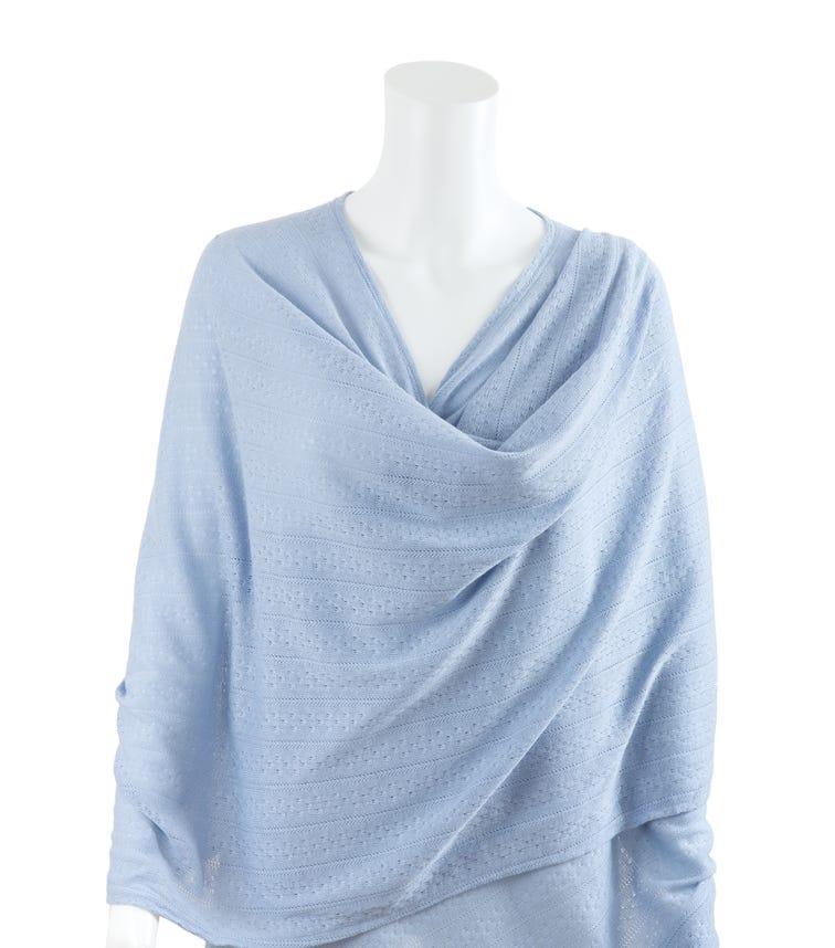 BEBITZA Textured Knit Fabric Blue