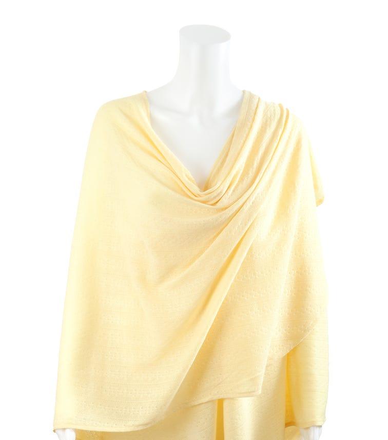 BEBITZA Textured Knit Fabric Yellow