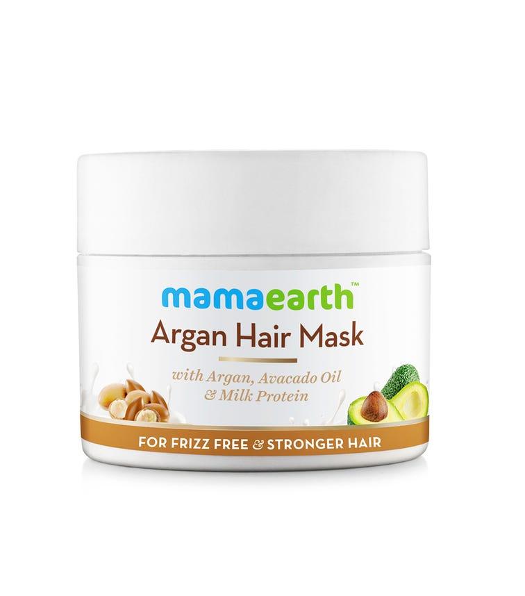 MAMAEARTH Argan Hair Mask For Frizz Free & Stronger Hair,200 ML
