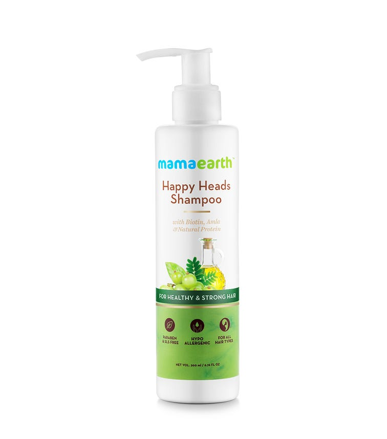 MAMAEARTH Happy Heads Shampoo For Healthy-Strong Hair, 200 ML