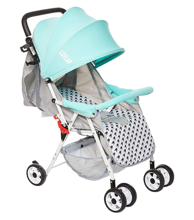LUVLAP Travel Light Strollers With Superior Safety - Green