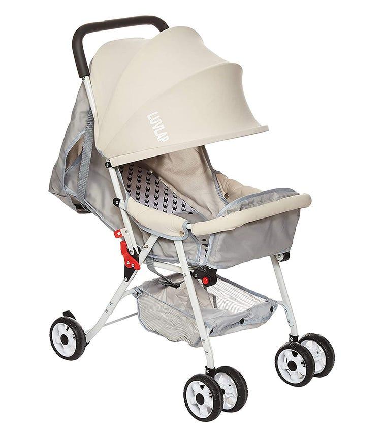 LUVLAP Smart Twist Rotating Luxury Stroller - Beige