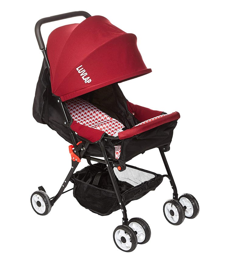 LUVLAP Smart Twist Rotating Luxury Stroller - Red