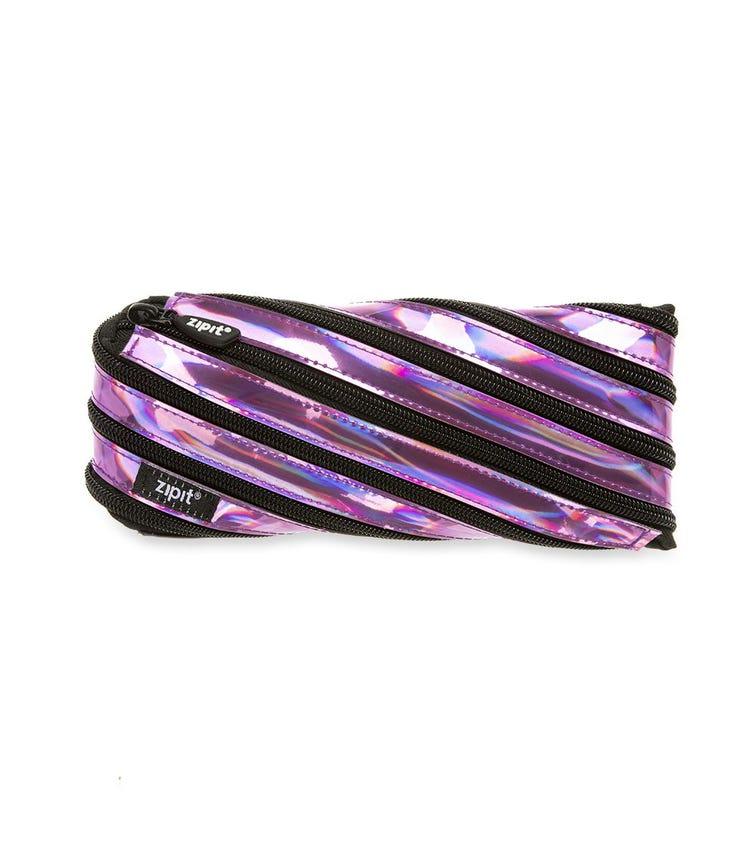 ZIPIT Pencil Casepouch Metallic Pouch Purple