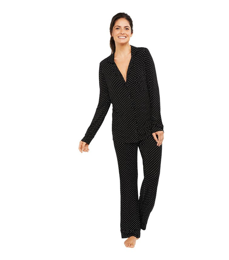 A PEA IN THE POD Button Front Pajama Set