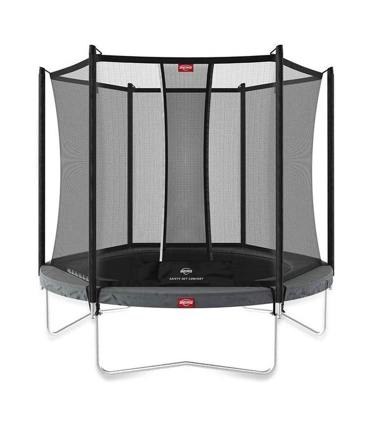 BERG Favorit 9ft Trampoline + Safety Net - Grey