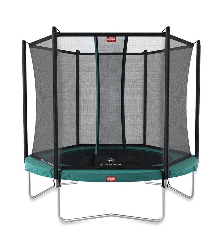 BERG Favorit 11ft Trampoline + Safety Net- Green