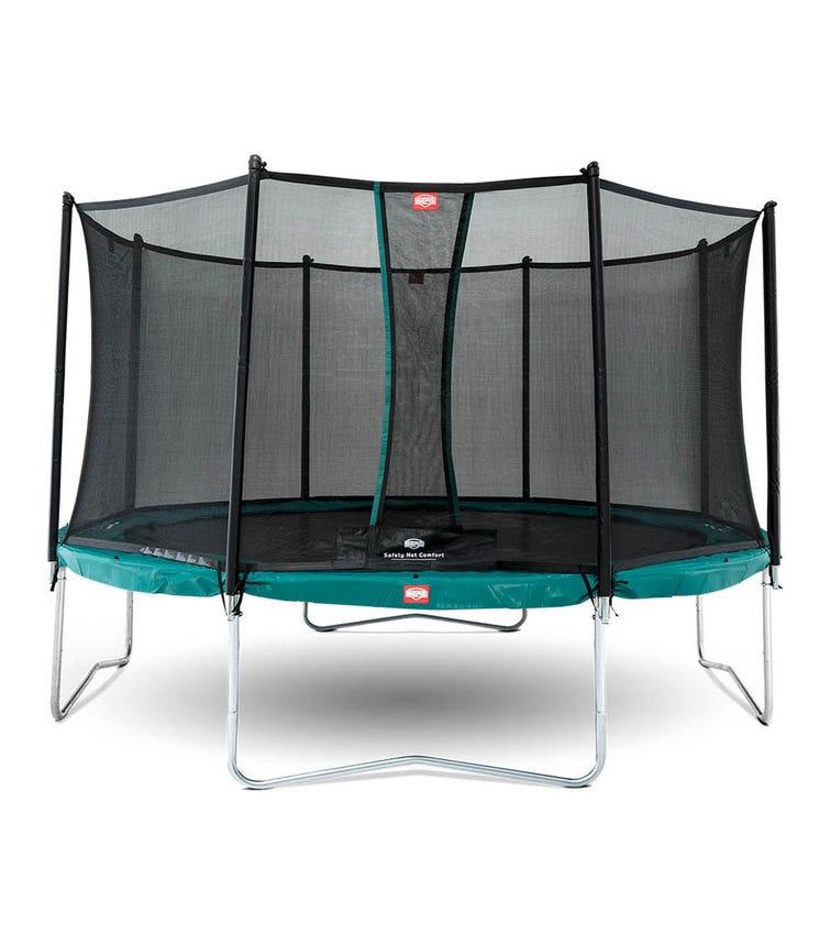 BERG Favorit 12ft Trampoline + Safety Net - Green