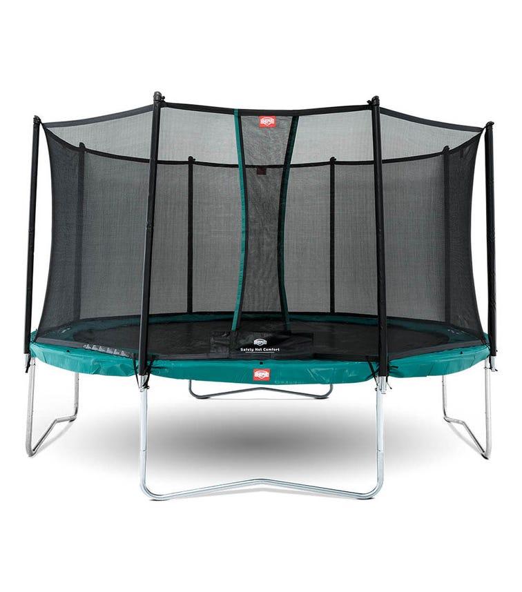 BERG Favorit 14ft Trampoline + Safety Net - Green