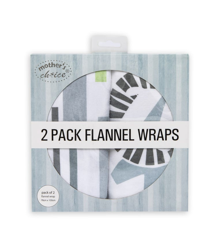 MOTHER'S CHOICE Flannel - 2 Pack - White
