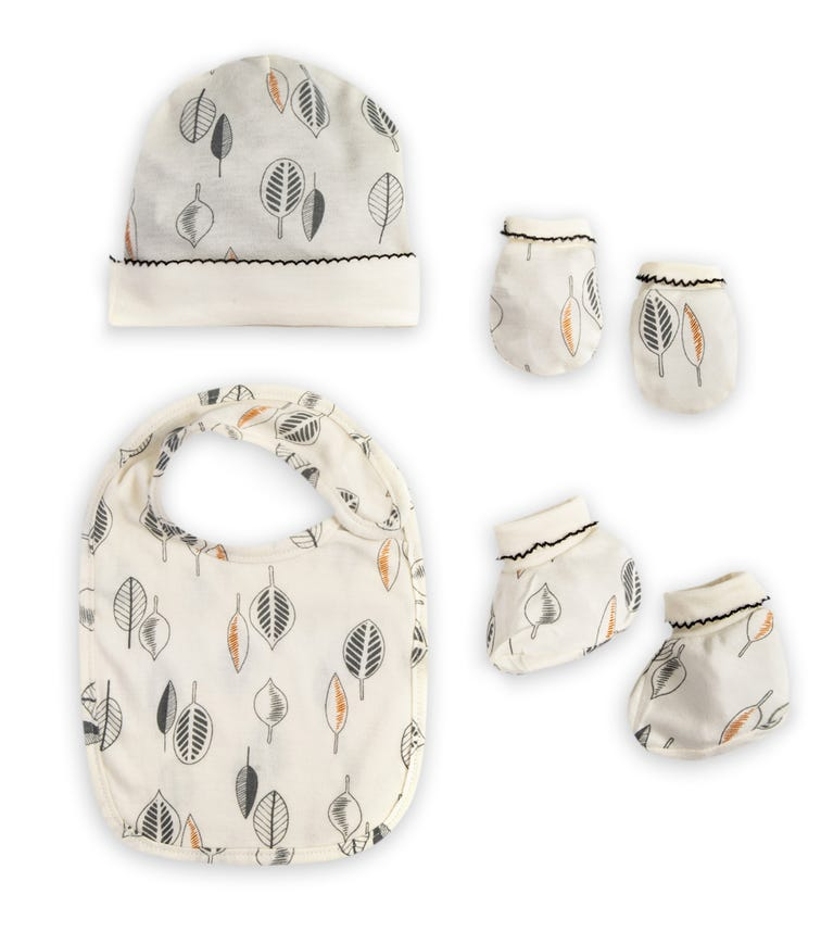MOTHER'S CHOICE Bamboo 4 Piece Layette Set Off-White