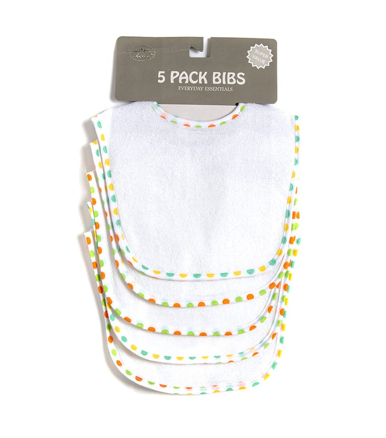 MOTHER'S CHOICE Baby 5 Pack Bibs