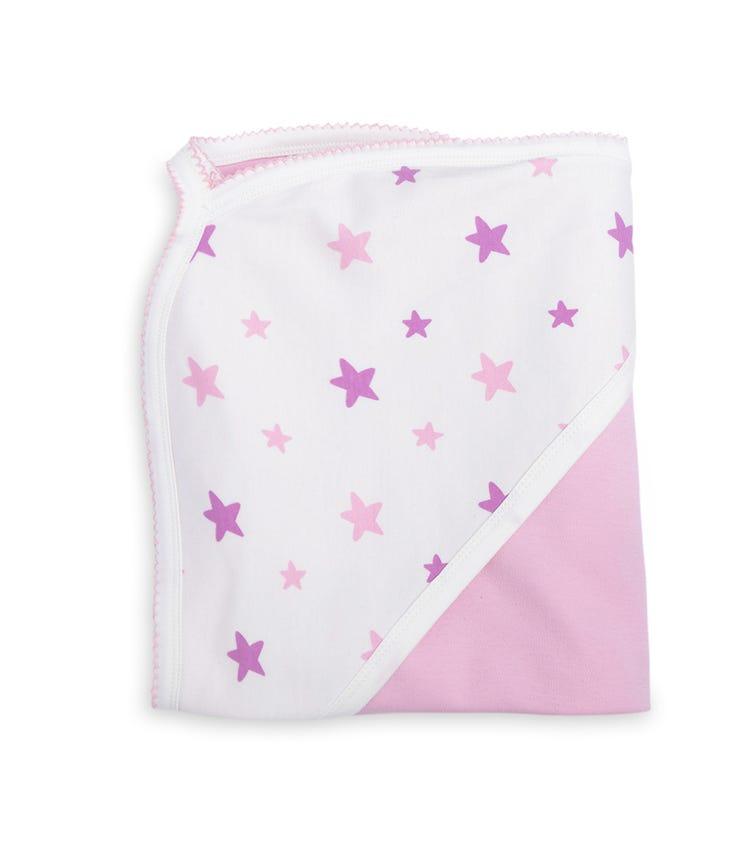 ORGANIC KID Pink Stars Blanket